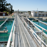 The Travis AFB water treatment plant is capable of treating 7.5 million gallons of water per day. According to Mr. Roger Kasper, senior treatment plant operator at the Travis water treatment plant, the base used 86.6 million gallons of water in the first quarter of 2015; enough to fill the reflecting pool of the Lincoln Memorial nearly 13 times. While that's a lot of water by any objective measure, it's 7.43 percent less than the amount used  in the same quarter a year ago. (U.S. Air Force photo/Ken Wright)
